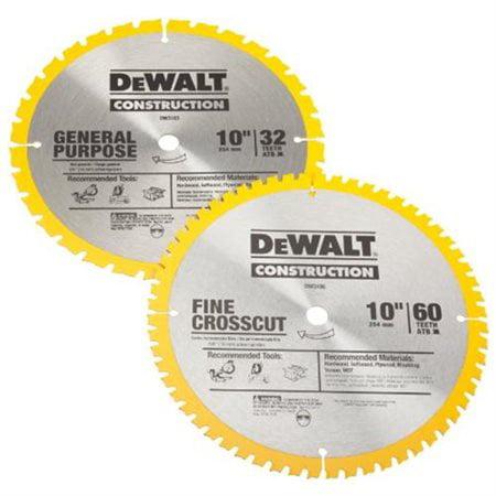 DeWalt DW3106P5 10-inch Miter Saw Blades - 2 Pack