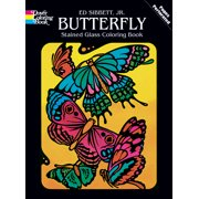 Dover Pub Butterfly Stained Glass Coloring Bk