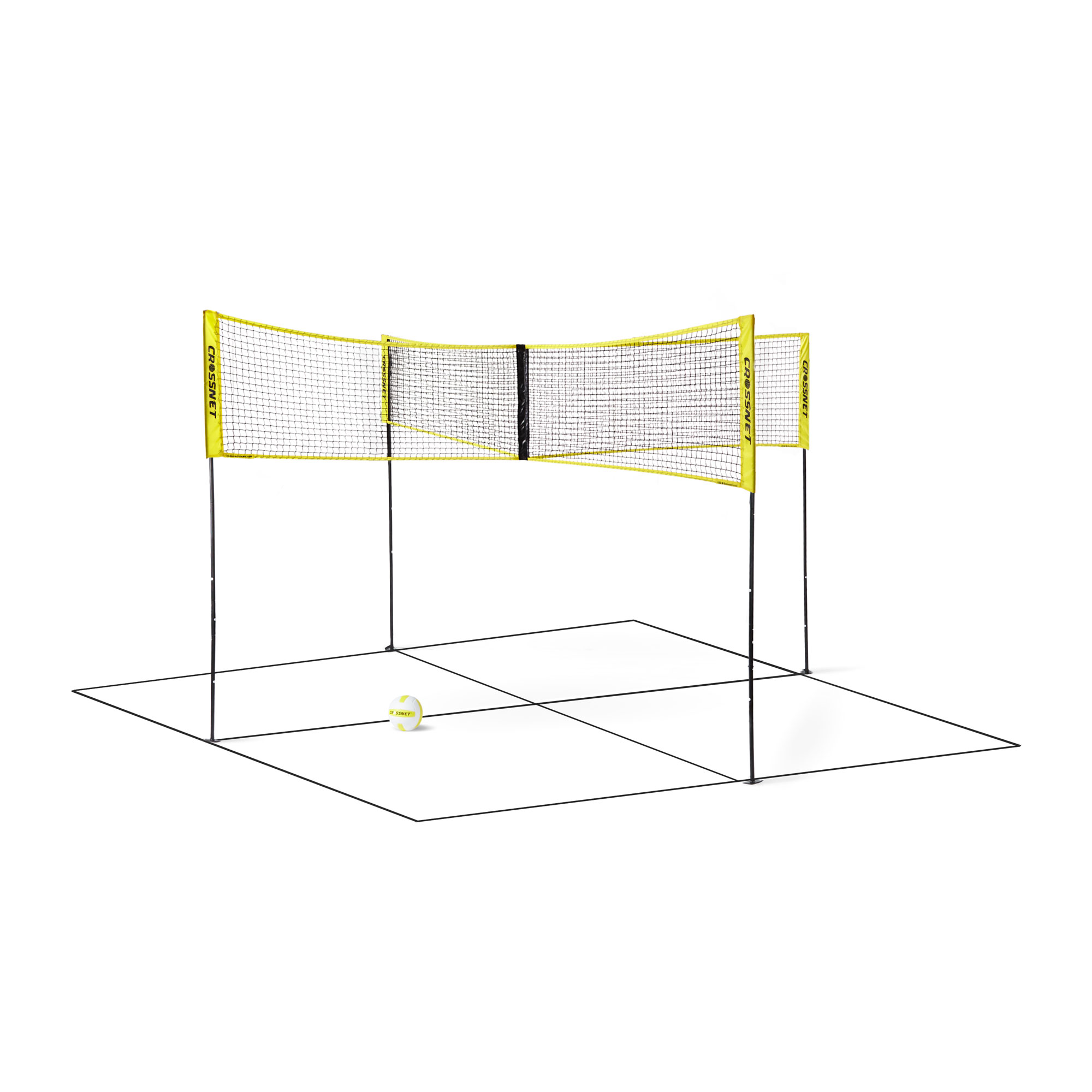 Crossnet Four Square Volleyball Net And Game Set With Carrying Backpack Ball Walmart Com Walmart Com
