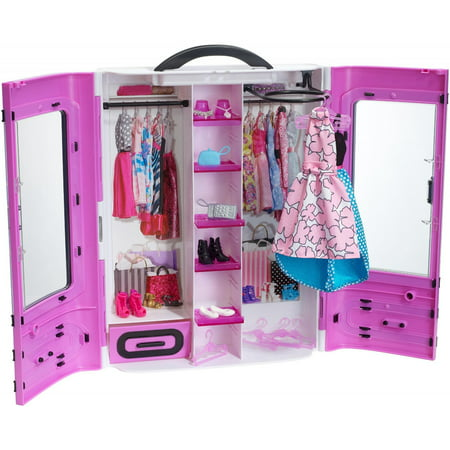 Barbie Fashionistas Ultimate Portable Closet, Purple with 15+ Pieces