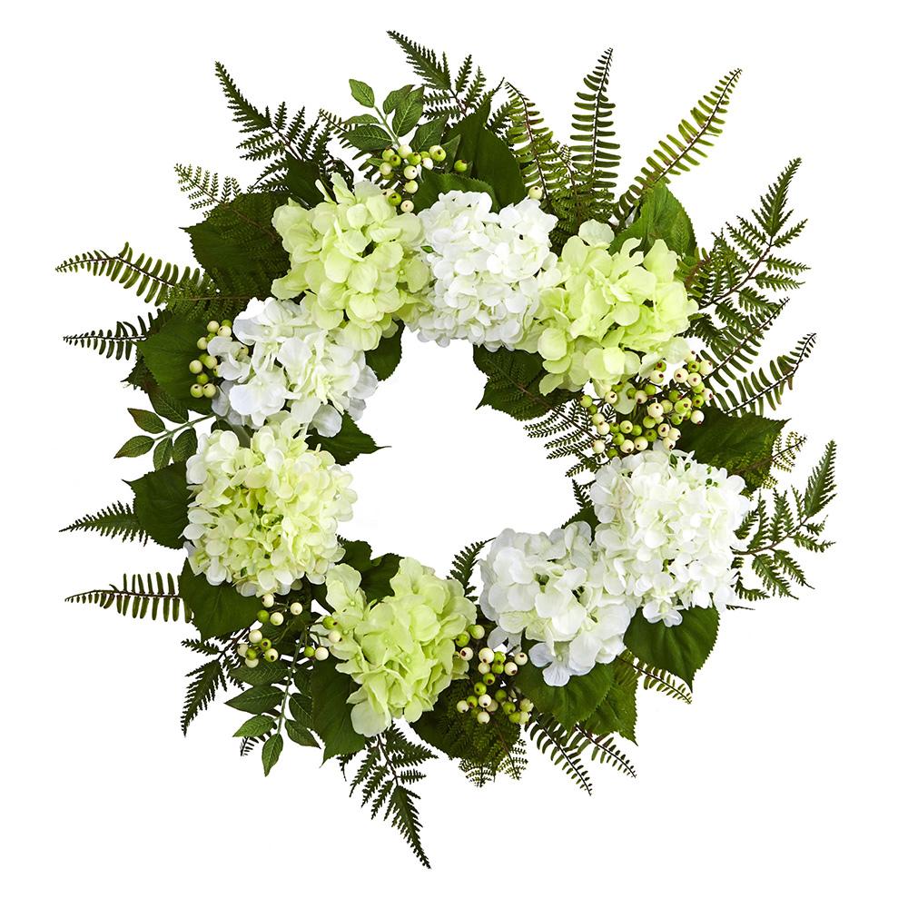 "24"" Hydrangea Berry Wreath Wreaths"