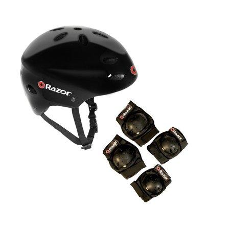 Razor V17 Youth Skateboard / Scooter Sport Helmet w/ Knee & Elbow Pads Set ()