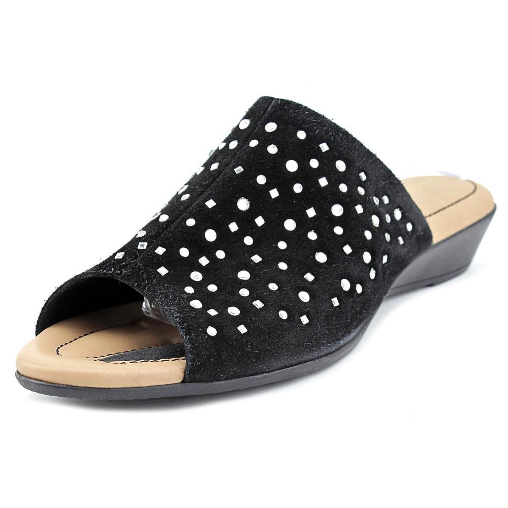 J. Renee Stellen Open Toe Suede Slides Sandal by J. Renee