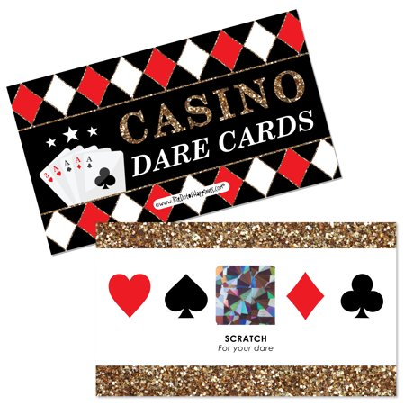 Las Vegas - Casino Party Scratch Off Dare Cards - 22 Count - Save The Date Halloween Party