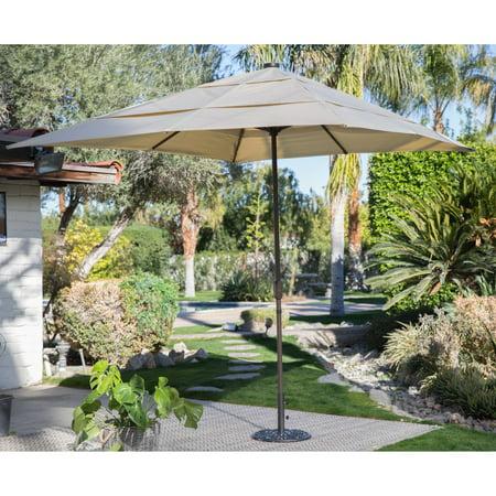 C Coast 8 X 11 Ft Rectangular Aluminum Market Solar Lighted Patio Umbrella