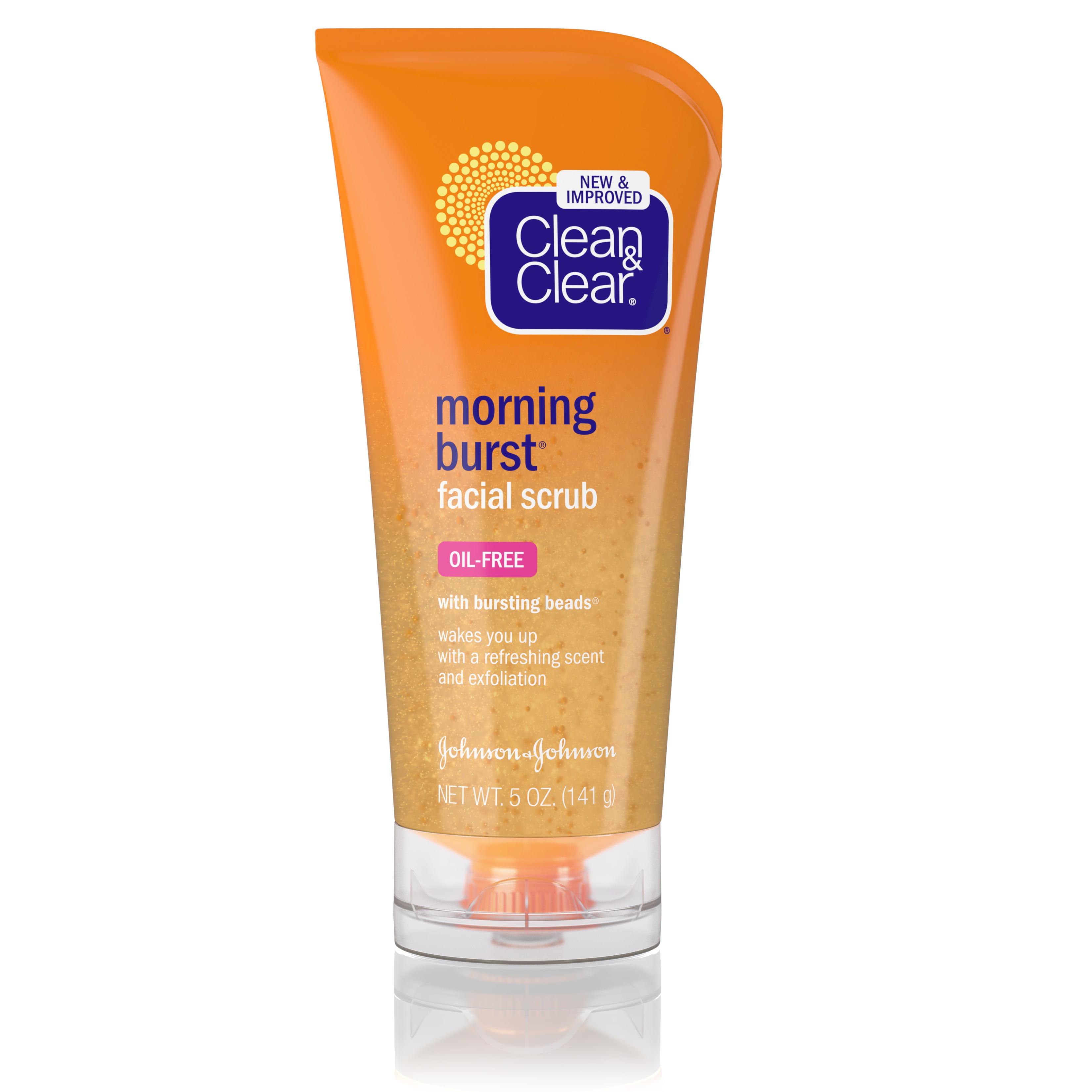Facial scrub for flakey skin
