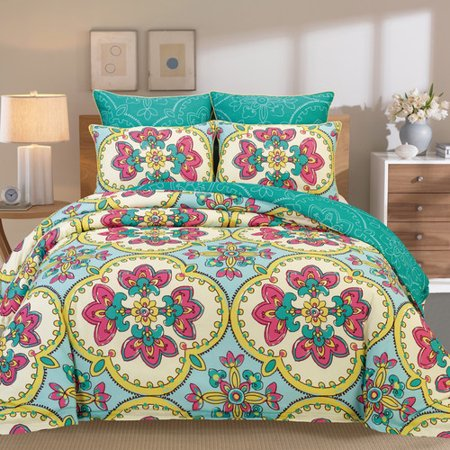 Peach Couture Couture Home 6 Piece Comforter Set Walmart Com