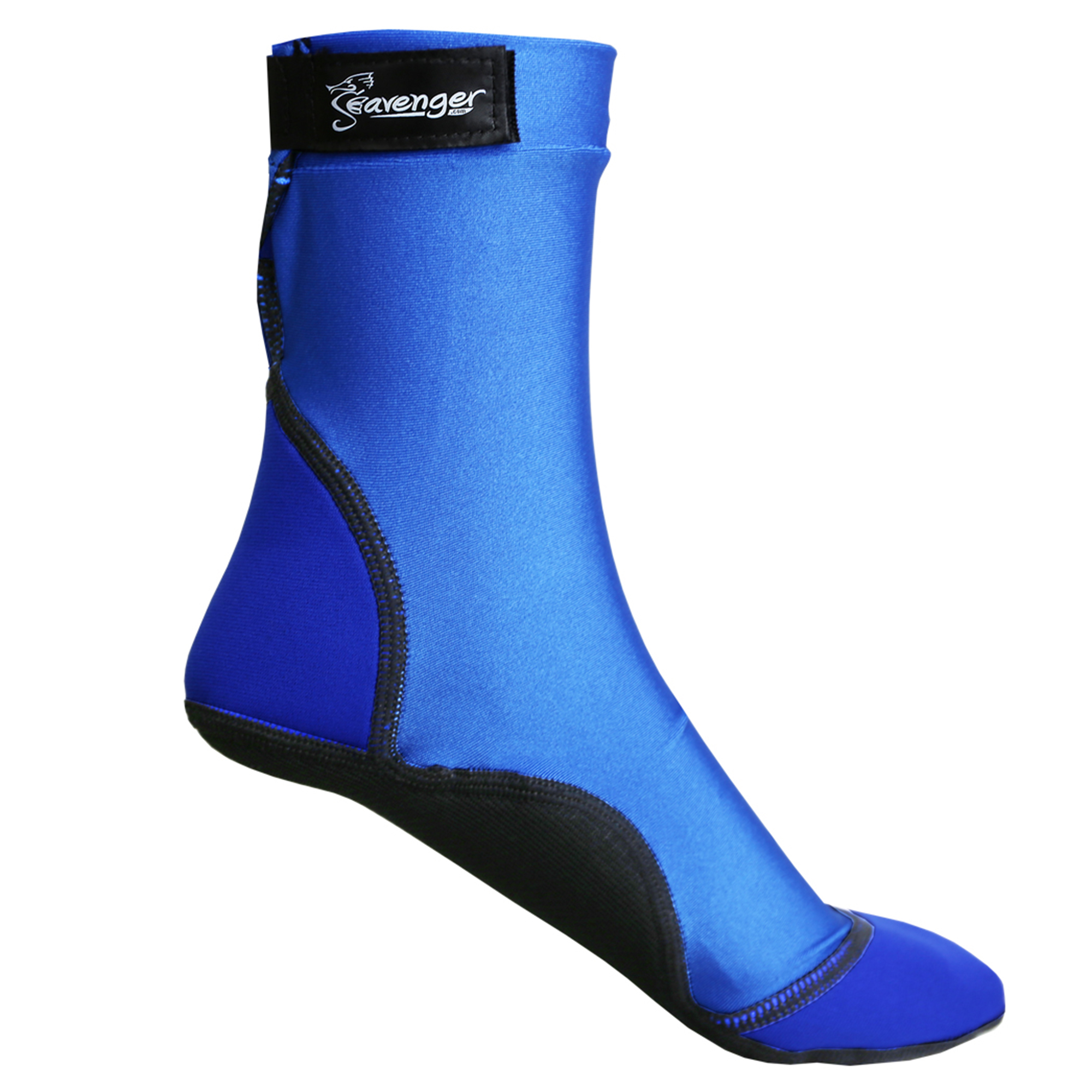 Seavenger High Cut Beach Socks with Grip Sole for Sand, Volleyball, Snorkeling, Diving, Wading (Blue, Large)