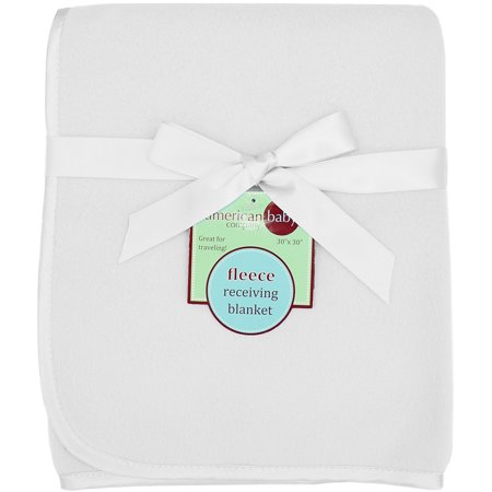 American Baby Company Fleece Blanket With Satin Trim - 3/8-Inches - White - image 1 of 1