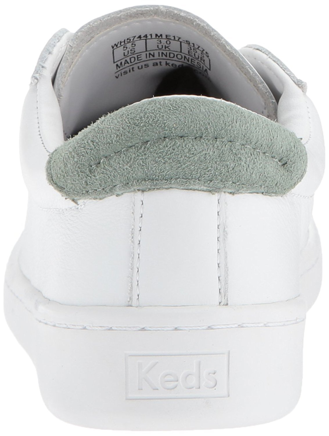 Keds Women's Ace Leather Fashion Sneaker, White/Gum, 6 M US