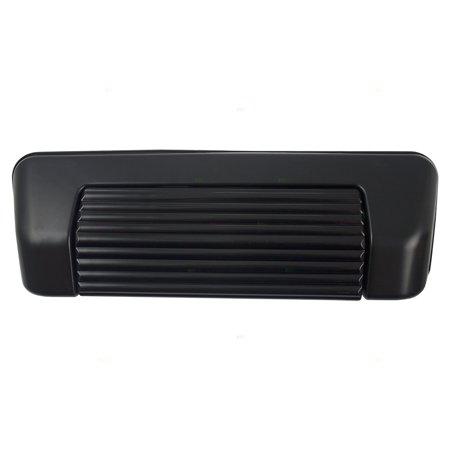 Rear Tailgate Liftgate Handle Black Base w/ Black Lever Replacement for Chevrolet Geo Tracker Suzuki Sidekick (Tailgate Base)