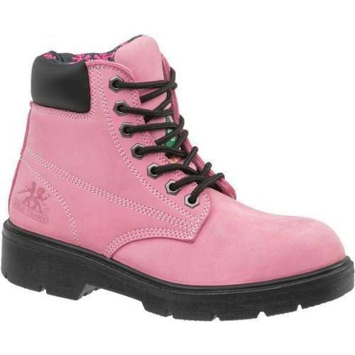 MOXIE TRADES 50162 Industrial Work Boots,Women,10,Pink,PR G9375877