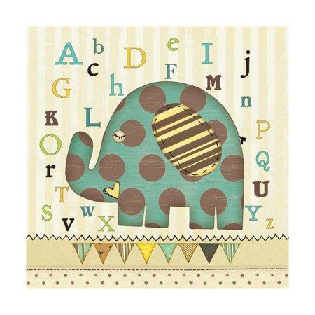 Alphabet Elephant (Alphabet Elephant Print Wall Art By Jo Moulton)
