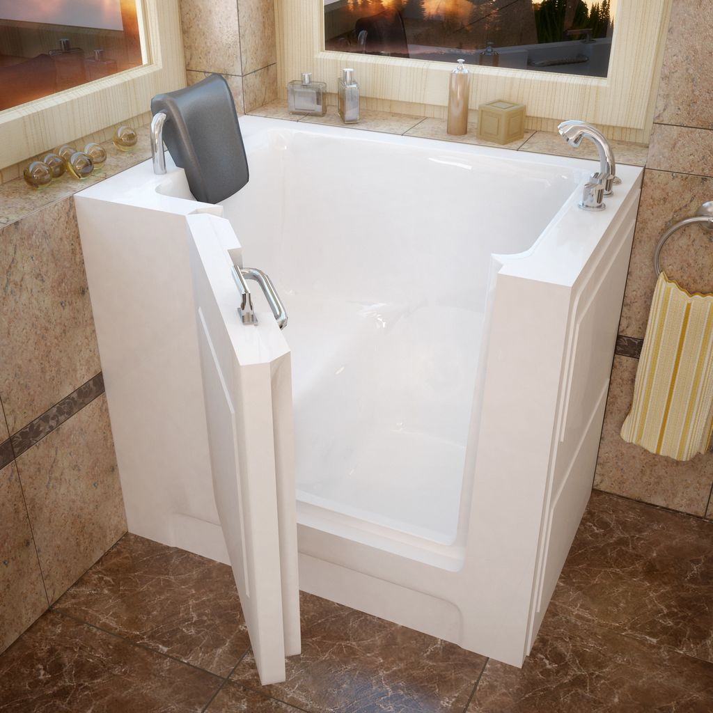 Meditub 27x39 Right Drain White Soaking Walk-In Bathtub