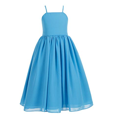 4f31adf5b9c Ekidsbridal Criss-Cross Chiffon Flower Girl Dress Princess Dresses Pageant Gown  Birthday Girl Dress Ballroom Gown Holiday Dresses Junior Bridesmaid Dress  ...