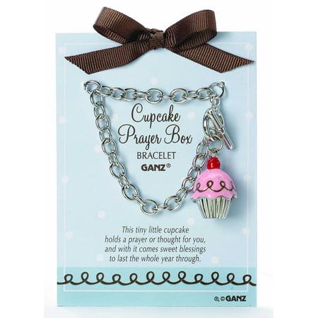 Pink Cupcake Prayer Box Bracelet by - Prayer Box Bracelet