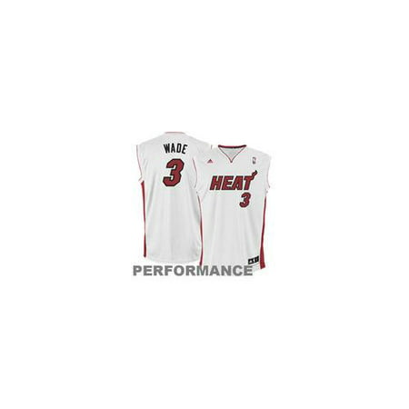 (Dwyane Wade Miami Heat adidas Replica Home Jersey - White SMALL WHITE)