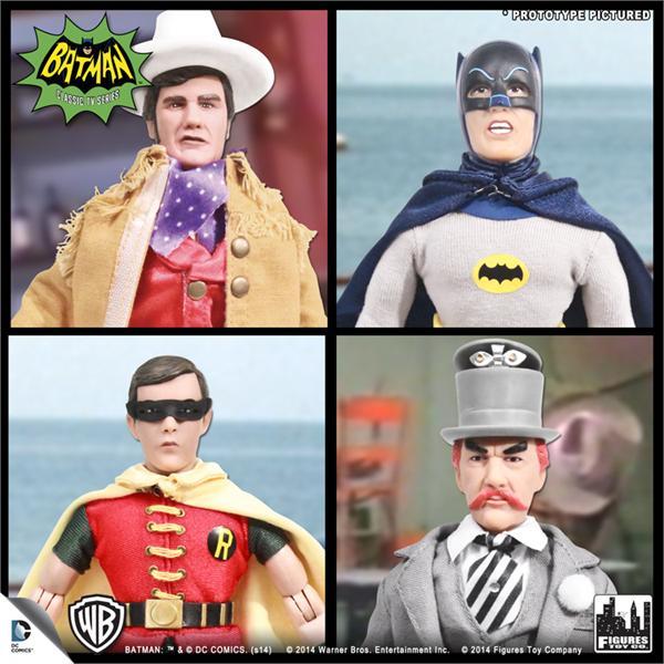 """Batman 1966 TV Series Classic TV Series 3 Batman Set of 4 8"""" Action Figures"""