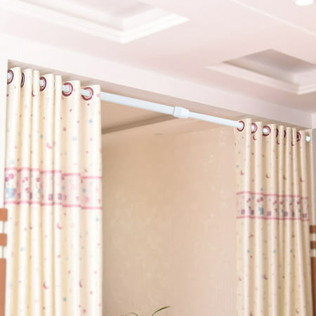 Dilwe Adjule Spring Loaded Tension Rod Shower Extendable Curtain Closet Window Rail Pole