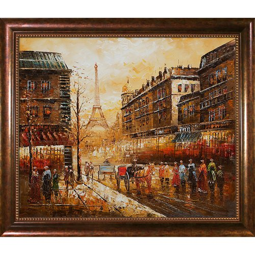 Wildon Home 'Evenings Delight in Paris' Canvas Art by Various Artists Traditional in Verona Cafe Frame