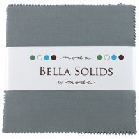 Bella Solids Steel Charm Pack 42 Squares 5'' Moda Fabrics