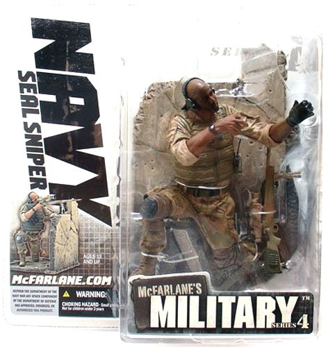 McFarlane Military Series 4 Navy SEAL Sniper Action Figure [African American] by