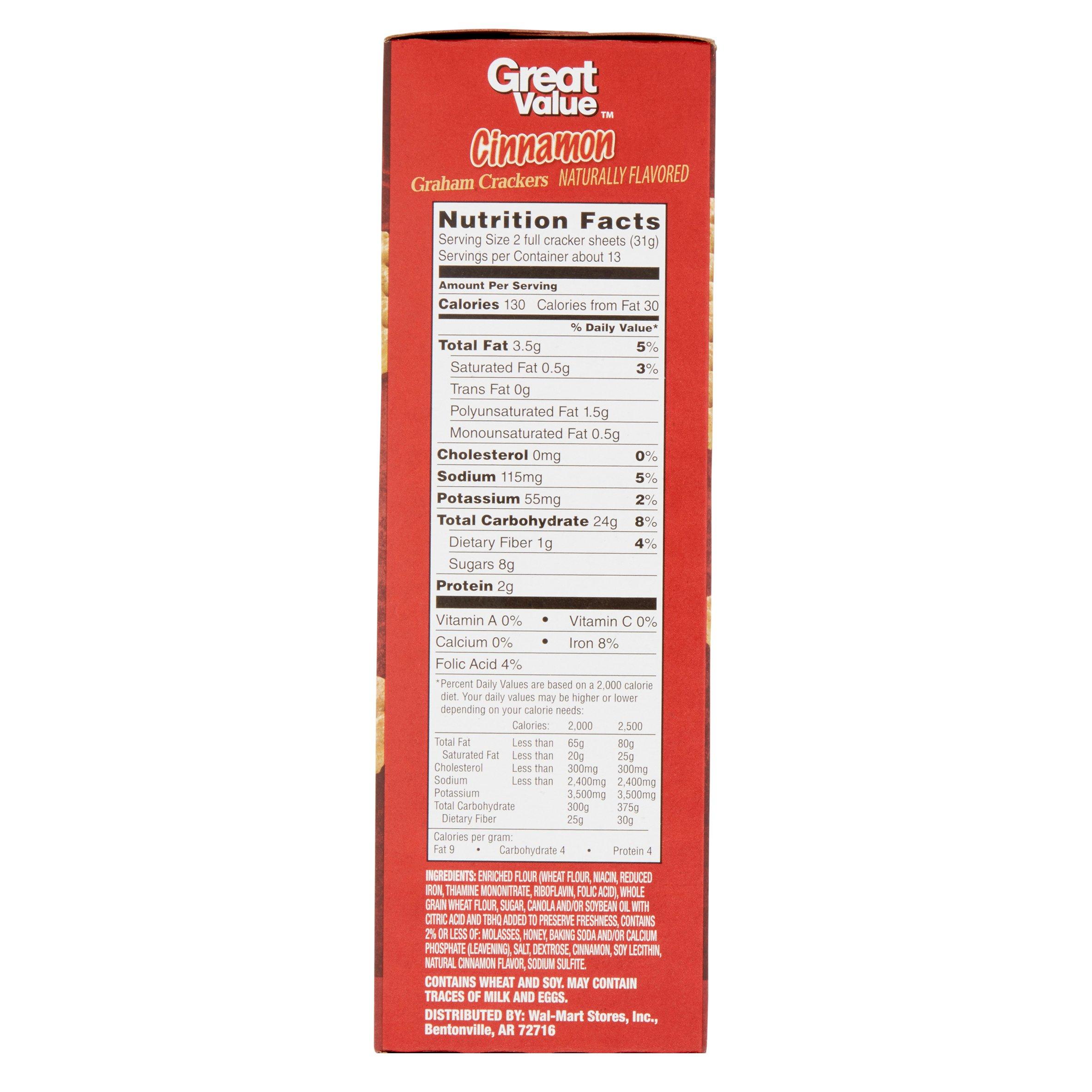 Great Value Graham Crackers, Cinnamon, 3 Count, 14.4 oz - Walmart.com