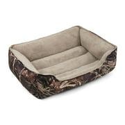 """Soft Spot Bolster Pet Bed, Camo, 36"""" x 27"""""""