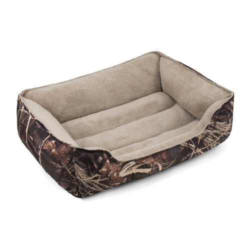 "Soft Spot Bolster Pet Bed, Camo, 36"" x 27"""