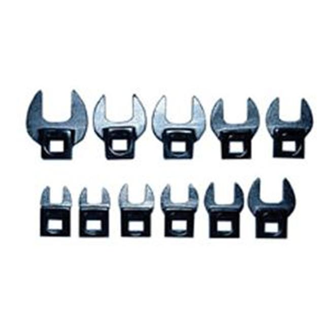 V-8 Tools V8T7711 SAE .38in. to 1in. 14 Piece Crowfoot Wrench Set