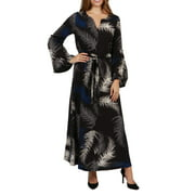 24/7 Comfort Apparel Lisette Maxi Dress