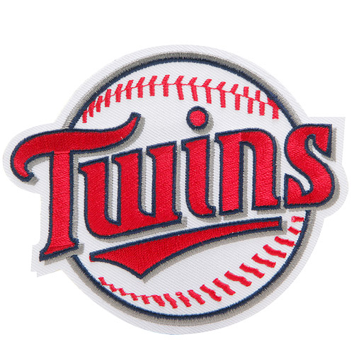"Minnesota Twins ""TWINS"" Secondary Logo Patch - White/Red - No Size"