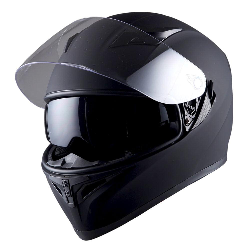 1Storm Motorcycle Full Face Helmet Street Bike Dual Visor/Sun Shield HJK316 Matt Black