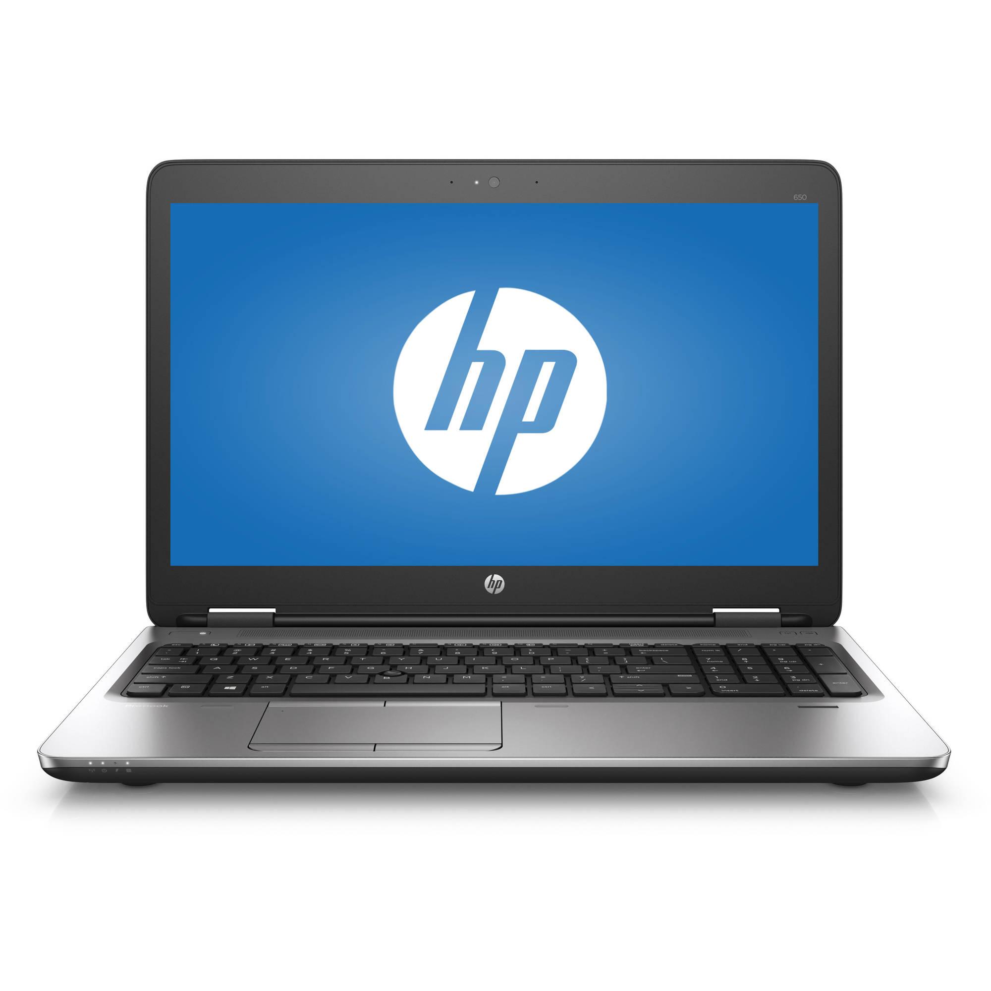"HP ProBook 650 G2 V1P80UT#ABA 15.6"" Laptop, Windows 7 Professional, Intel Core i7-6600U Dual-Core Processor, 8GB RAM, 256GB Hard Drive"