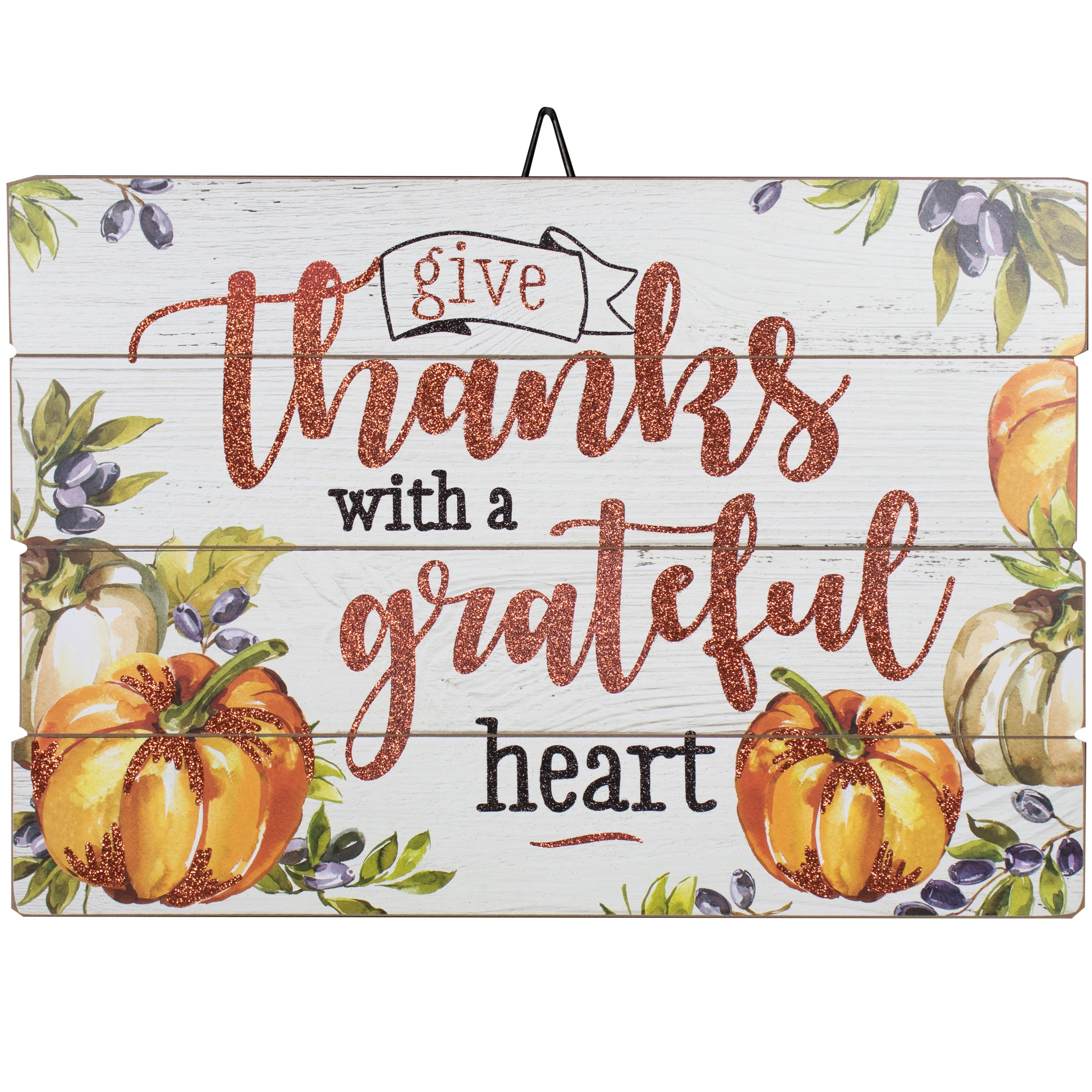 Give Thanks With A Grateful Heart Wood Sign - 23 X 16 inch (YQ)