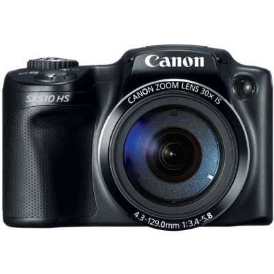 PowerShot SX510 HS 12.1 MP CMOS Digital Camera with 30x Optical Zoom and 1080p Full-HD Video