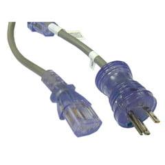 Hospital Grade, Green Dot, Power Cord, Nema 5-15 to C13, 14 AWG, SJT, 15 Amp / 125 Volt, 6 Foot