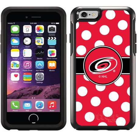 Carolina Hurricanes Polka Dots Design on OtterBox Symmetry Series Case for Apple iPhone 6 by