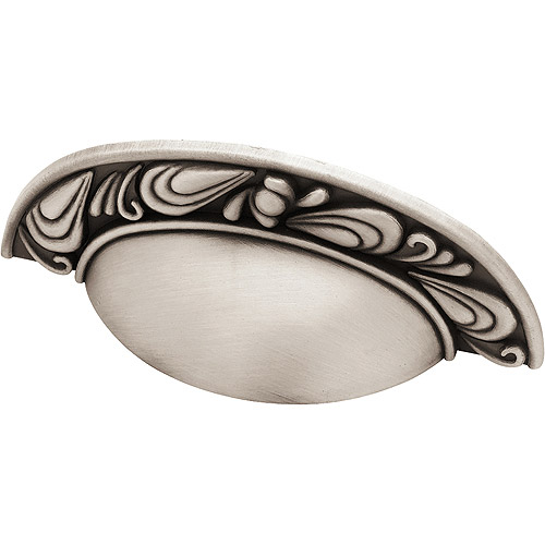 Brainerd Paisley Cup Pull, Brushed Satin Pewter