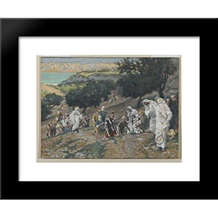 Jesus Heals the Blind and Lame on the Mountain 20x24 Framed Art Print by James - Jesus Heals Blind