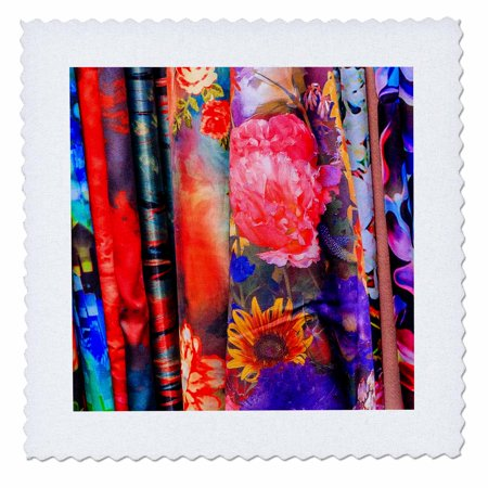 3dRose Colorful chinese flower Silk Scarves, Shanghai, China - Quilt Square, 8 by 8-inch