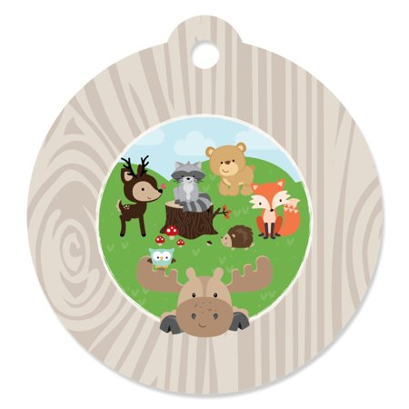 Woodland Creatures - Party Favor Tags (Set of 20) - Print Tags For Favors