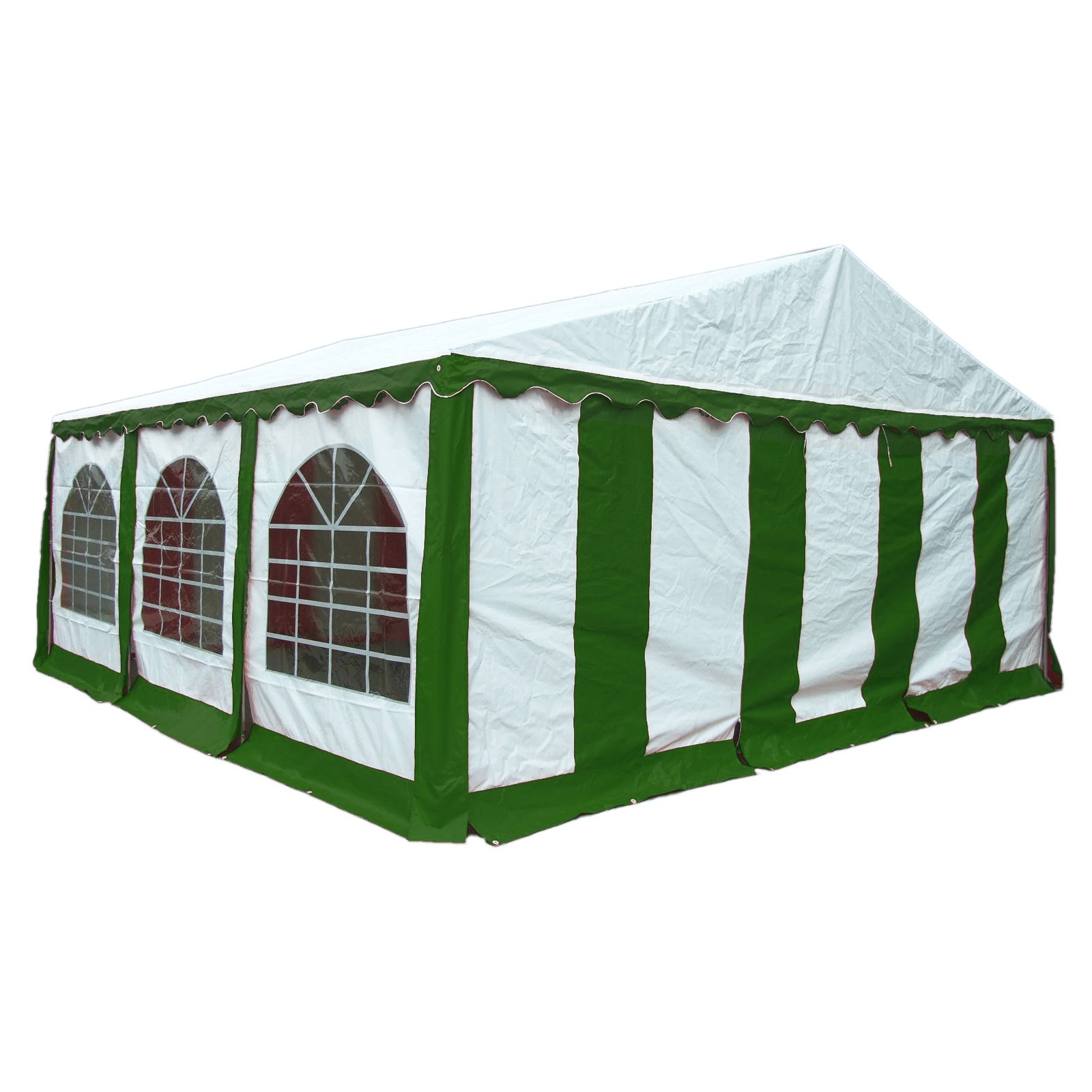 Enclosure Kit with Windows for Party Tent, 20' x 20'/6m x 6m, Green/White, (Frame and Cover Not Included)