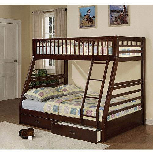 Jason Twin Over Full Wood Bunk Bed, Espresso