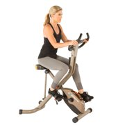 EXERPEUTIC GOLD 575 XLS Bluetooth Smart Technology Folding Upright Exercise Bike, 400 lbs by Paradigm Health & Wellness