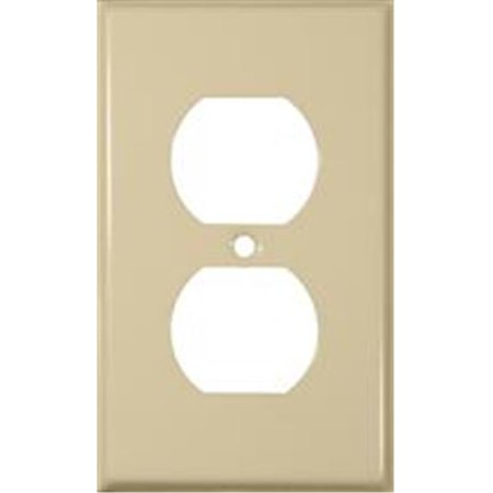 Stainless Steel Metal Wall Plates 1 Gang Duplex Receptacle Ivory