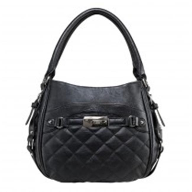 Ncstar BWD001 Quilted Hobo Bag With Pockets, Black