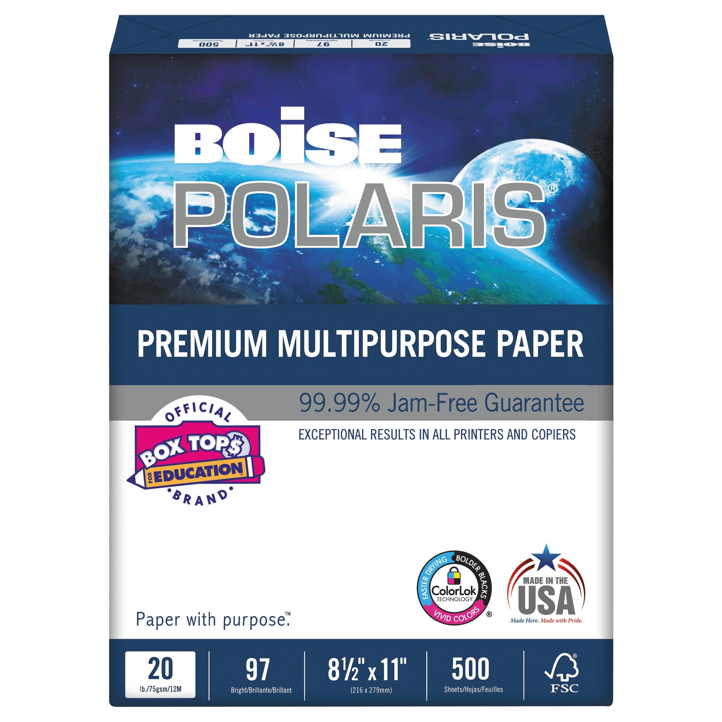 """Boise Polaris Copy Paper, 8.5"""" x 11"""", White, 5,000 Sheets"""