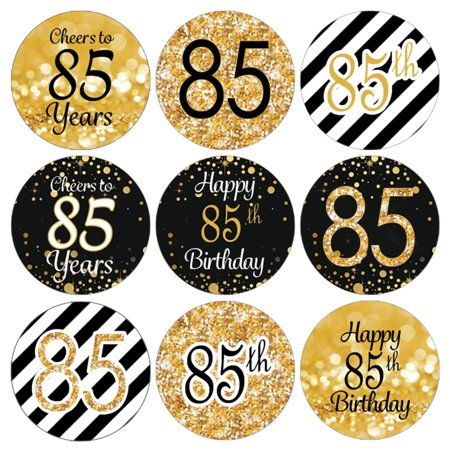 85th Birthday Party Favor Stickers