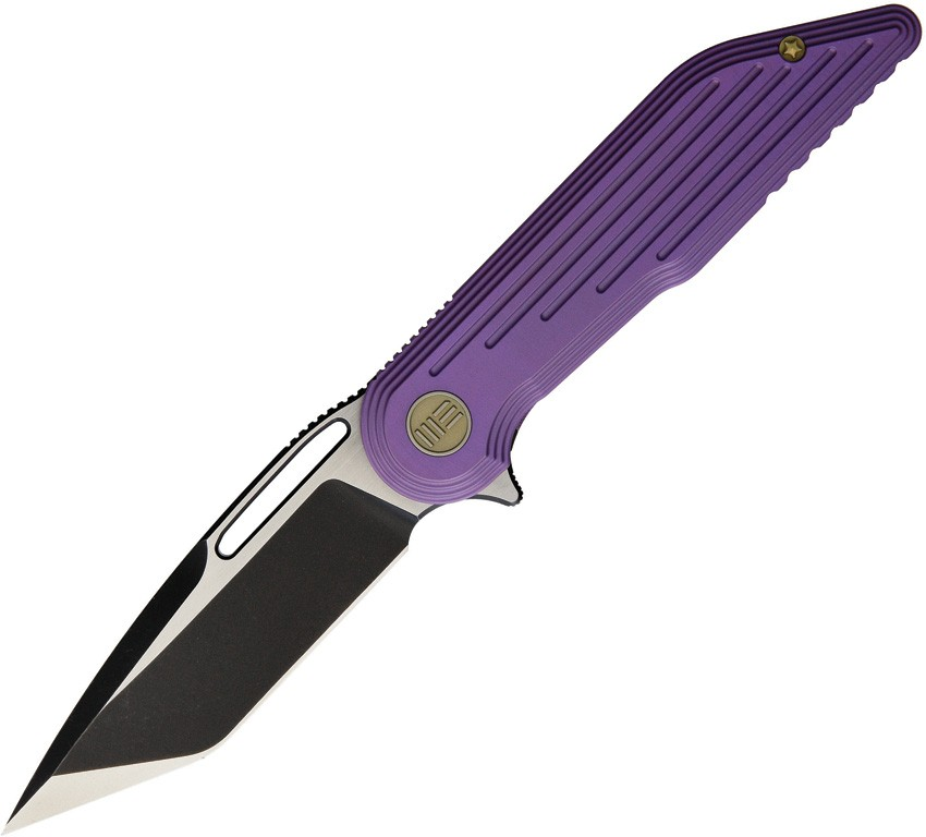 We WE616A Framelock Black/Satin Purple Titanium Folding Knife Pocket Folder